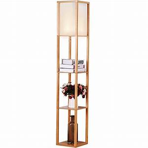 brightech maxwell shelf floor lamp modern mood With floor lamp with shelves reviews