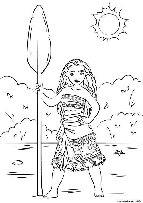 coloring paper print princess moana disney coloring pages pretty papers