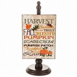 Fall, Harvest, Pumpkin, Wood, Decor, On, Stand, Thanksgiving, Home