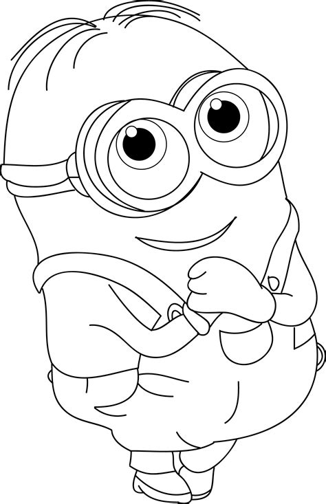 Minion Bob Coloring Pages Free Printable Coloring Pages
