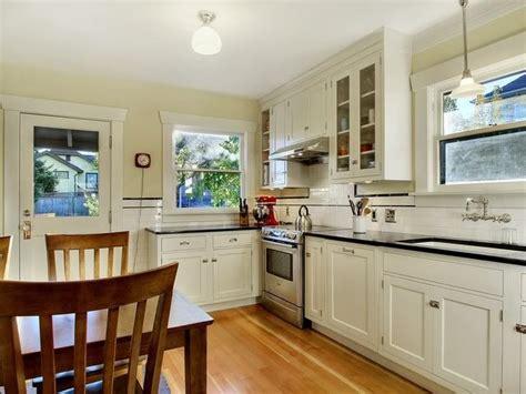 cabinet kitchen modern finished period kitchen 1925 craftsman bungalow white 1925