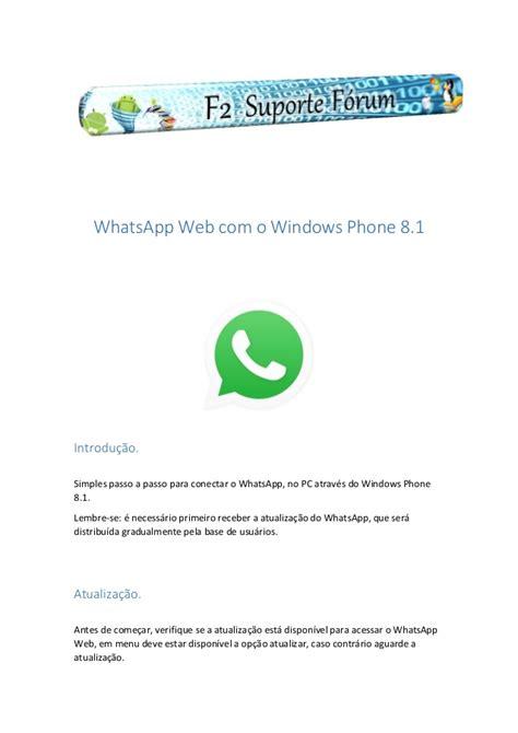 whatsapp web o windows phone 8 1