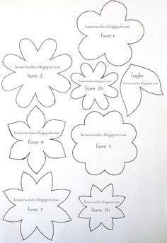 paper  felt flower templates artigianato  feltro