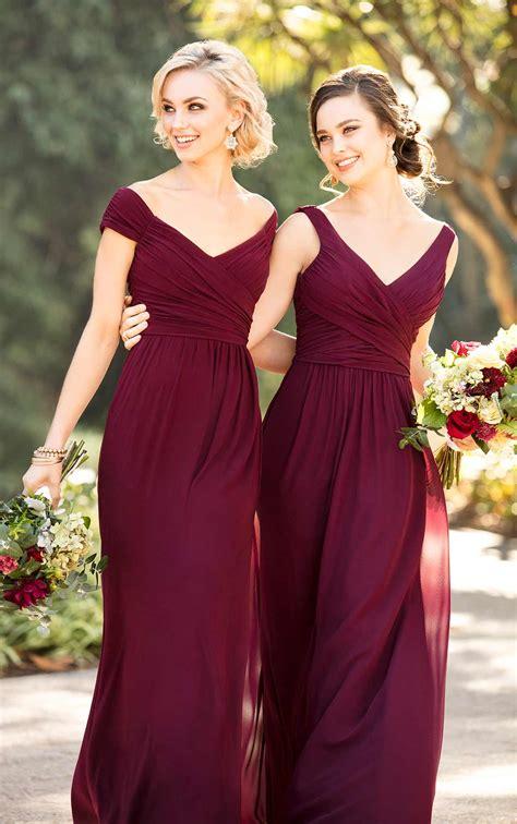 bridesmaid dresses classic chiffon  neck bridesmaid