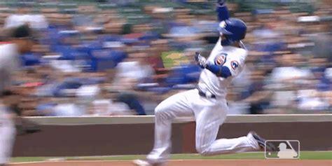 Javier Baez's Smooth Slide Into Third Base