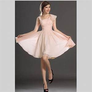 2015 hot sale pink chiffon short bridesmaid dresses for Wedding guest dresses sale