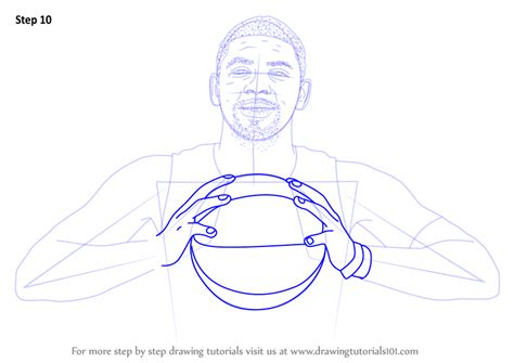learn   draw kyrie irving basketball players step