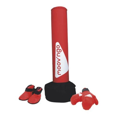sac de frappe gonflable martial et gants moov ngo magasin de jouets pour enfants