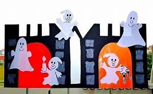 Halloween Basteln Gruselig : halloween basteln fensterbilder mit gespenstern und stock figuren ~ Whattoseeinmadrid.com Haus und Dekorationen