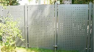 sichtschutz blech greyinkstudioscom With französischer balkon mit blech zaun garten