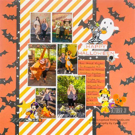 disney halloween scrapbook layout scrapbook  lynda