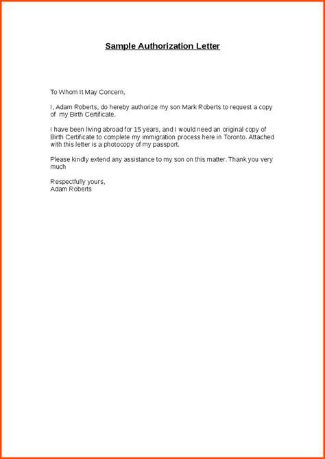 sample authorization letter mla format