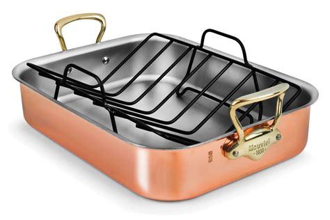 mauviel copper roasting pan  bronze handles  roasting pan roasting pans racks