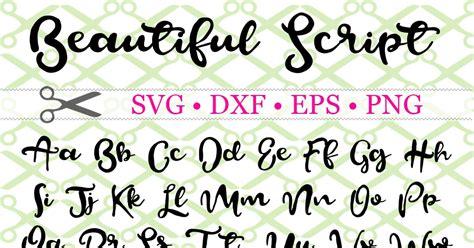 beautiful script svg font cricut silhouette files svg dxf eps png monogramsvgcom  svg designs