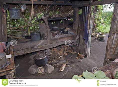 philippines outdoor kitchen stock photo image  pots