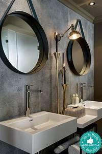 Miroir Rond Suspendu : 39 best ba os images on pinterest bowl sink home ideas and restroom decoration ~ Teatrodelosmanantiales.com Idées de Décoration