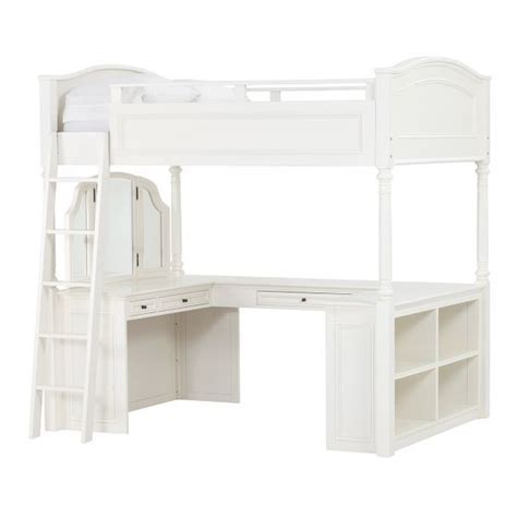 Pottery Barn White Loft Bed With Desk by Chelsea Vanity Loft Bed