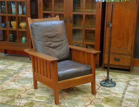 Stickley Morris Chair Reproduction by Voorhees Craftsman Mission Oak Furniture L J G Stickley