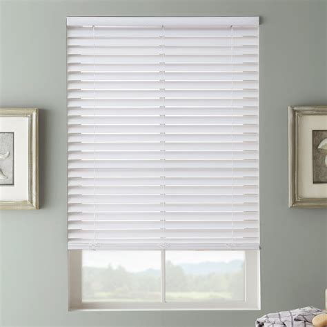 2 faux wood blinds 2 quot selectwave cordless faux wood blinds