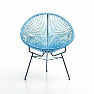 Fauteuil Plastique Jardin : fauteuil de jardin design bleu soleil ~ Teatrodelosmanantiales.com Idées de Décoration