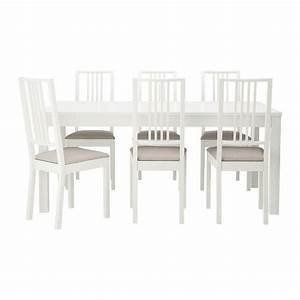Ikea Stühle Gebraucht : ikea bjursta b rje tisch und 6 st hle die tischgr e l sst sich schnell und einfach dem ~ Markanthonyermac.com Haus und Dekorationen