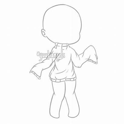 Base Anime Drawing Chibi Gacha Poses Bodies