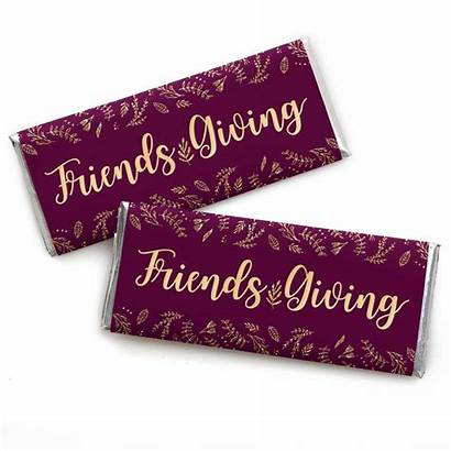Friendsgiving Friends Elegant Thankful Candy Favors Bar