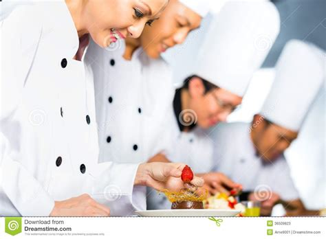 chef cuisine pic chefs cooking in restaurant stock image