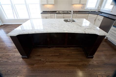 two tone kitchen antique brown granite millennium