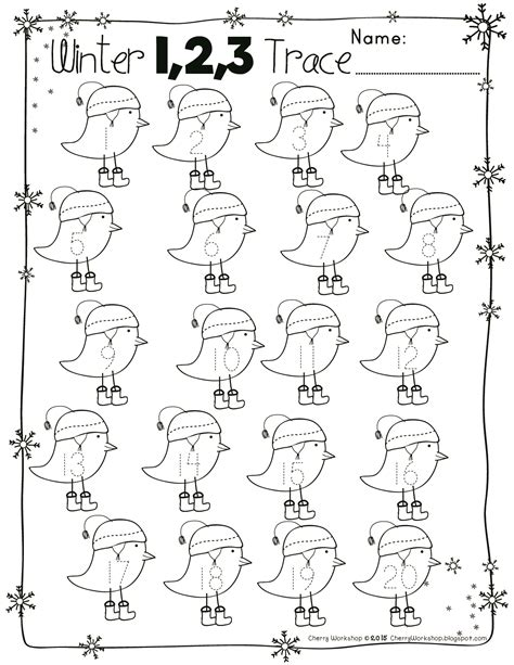 free numbers and abc winter tracing pages my tpt