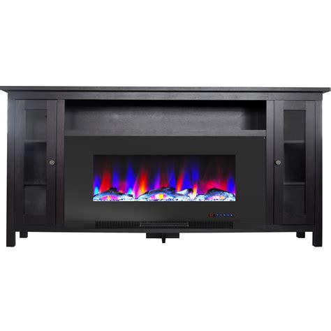 cambridge somerset   black electric fireplace tv