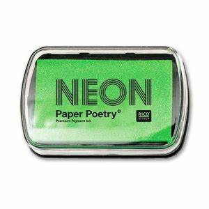 Ink pad Paper Poetry neon green x1 Rico Design Perles & Co