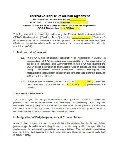 resolution agreement templates  google docs word