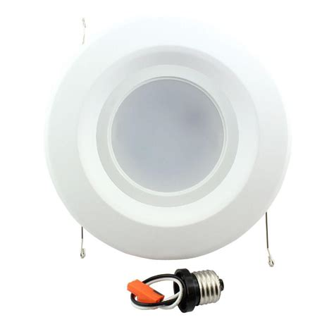 can light trim led commercial electric 5 in and 6 in white recessed led