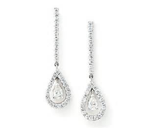 diamond dangle earrings borrow jewelry exquisite diamond drop earrings white