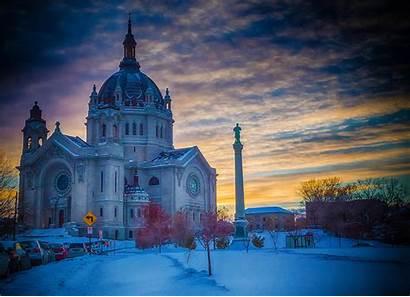 Paul Minnesota Cathedral Saint Usa Architektura Temples