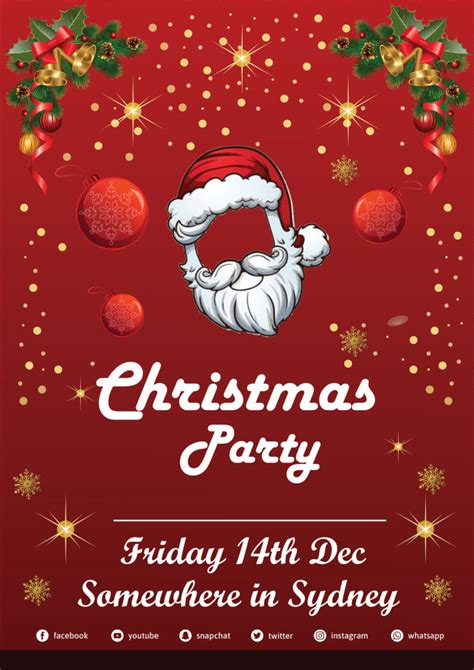Do christmas party card flyer invitation card by Jerry mrong