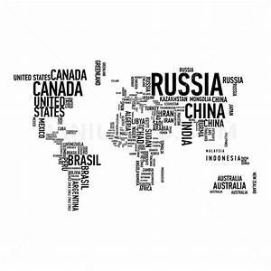 Vinilo Decorativo: Mapa Tipográfico