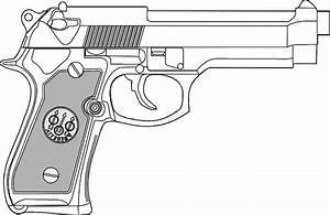 9 Mm Gun Clip Art Free Vector In Open Office Drawing Svg