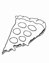 Pizza Coloring Pages Cheese Hut Pepperoni Sheet Template Printable Drawing Slice Pepporoni Cartoon Printables Popular Cheesy Coloringhome sketch template
