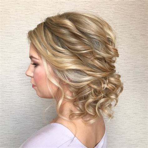 Updo Hairstyles For Curly Medium Length Hair by 60 Easy Updo Hairstyles For Medium Length Hair In 2019