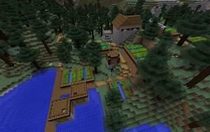 Taiga Blacksmith Village: Beware of Wolves - Minecraft Seed HQ