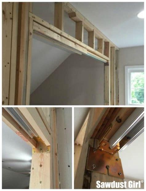 install  pocket door frame carpentry pocket