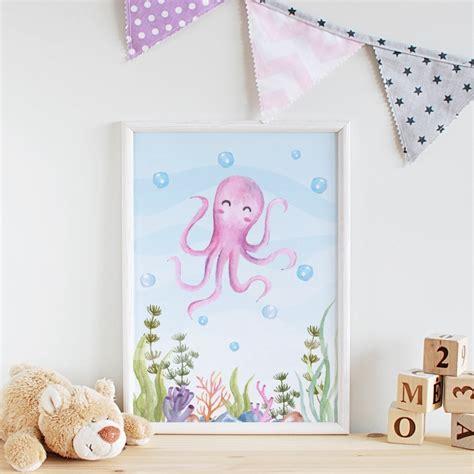 Babyzimmer Deko Shop by 3er Set Kinderzimmer Babyzimmer Poster Bilder Oktopus