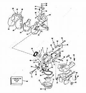 Evinrude 1977 9 90 - 10755a  Carburetor  U0026 Manifold
