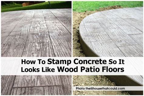 how to st concrete so it looks like wood patio floors
