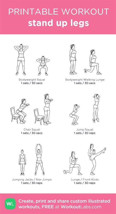 stand  legs  visual workout created  workoutlabs