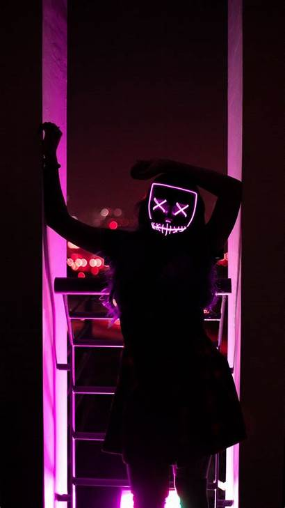 Purge Mask Led Wallpapers Neon Supreme Iphone