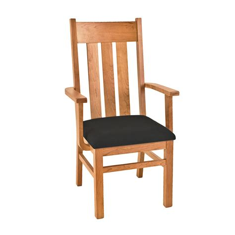 in stock modern mission dining chair solid cherry