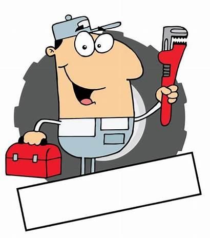 Cartoon Clipart Plumber Vector Material Mechanic Toolbox